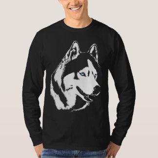 T-shirt Longues chemises de chien de pièce en t de douille
