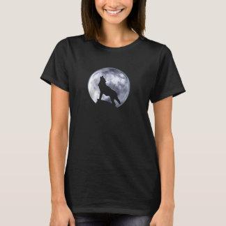 T-shirt Loup d'hurlement (F, monochromes)