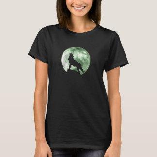 T-shirt Loup d'hurlement (F, vert)