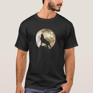 T-shirt Loup d'hurlement (M, jaune)