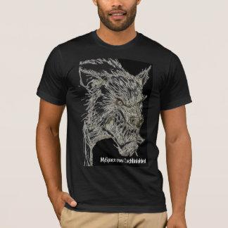 T-shirt loup-garou/noir