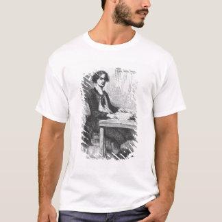 T-shirt Lucien de Rubempre écrivant une lettre