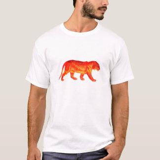 T-shirt lumineux brûlant