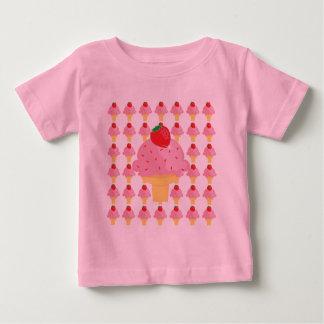 T-shirt lunatique de conception de crème glacée de
