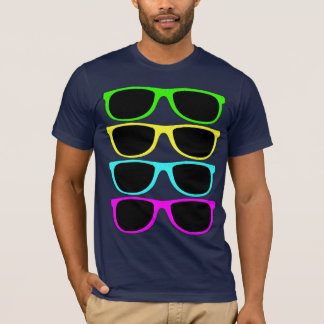 T-shirt Lunettes de soleil du cru RVB Fluo