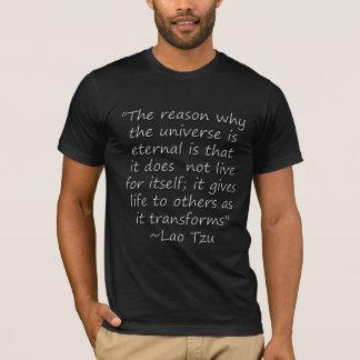 T-shirt L'univers de citation de Tzu du Laotien donne le
