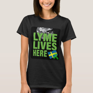 T-shirt Lyme vit ici chemise de conscience de la Suède