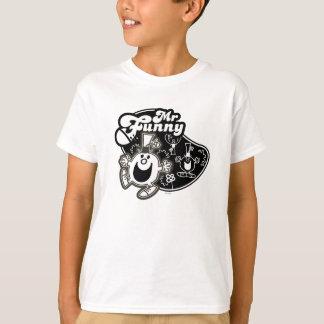 T-shirt M. noir et blanc Funny