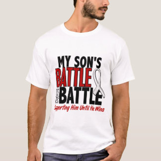 T-shirt Ma bataille trop 1 CANCER d'OS/POUMON de fils