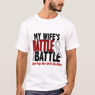 T-shirt Ma bataille trop 1 CANCER d'OS/POUMON d'épouse