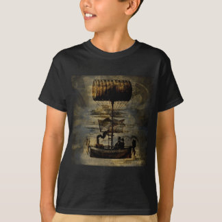 T-shirt Machine de vol de Steampunk de vol de nuit