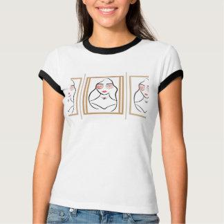 T-shirt Madame avec le rouge