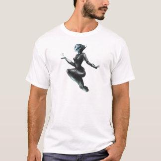 T-shirt Madame comique de héroïne/poissons