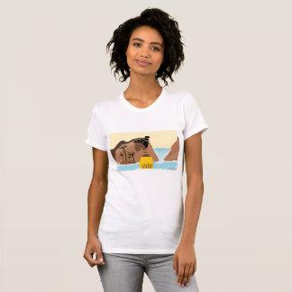 T-shirt Madame d'Africain de cascade