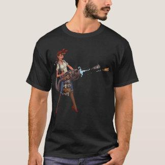 T-shirt Madame folle Cannon de chat