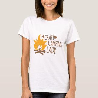 T-shirt Madame folle de camping