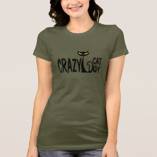 T-shirt Madame folle de chat