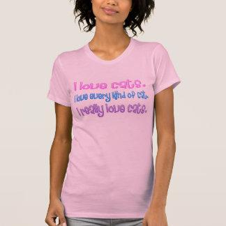 T-shirt Madame folle de chat - chats d'amour d'I
