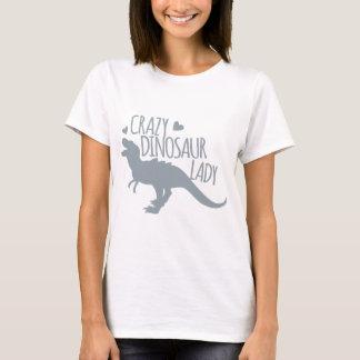 T-shirt Madame folle de dinosaure