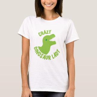 T-shirt Madame folle de dinosaure (en cercle)