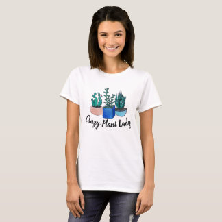 T-shirt Madame folle de plante
