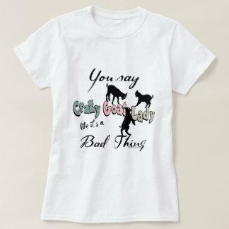 T-shirt Madame folle DRÔLE Southwest Colors de chèvre de