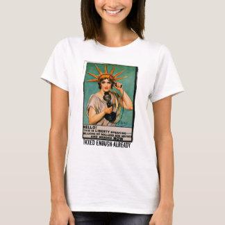 T-shirt Madame Liberty We Need Millions MAINTENANT