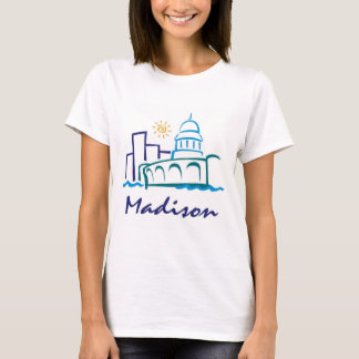 T-shirt Madison, le Wisconsin