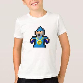 T-shirt Magicien bleu frais d'art de pixel
