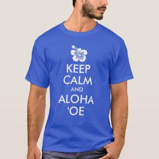 T-shirt Maintenez calme et Aloha fleur de ketmie de ʻOe