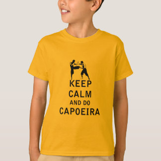 T-shirt Maintenez calme et faites Capoeira