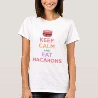 T-shirt Maintenez calme et mangez Macarons