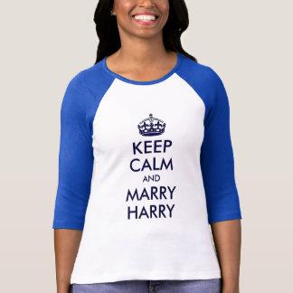 T-shirt Maintenez calme et mariez la chemise de Harry