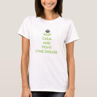 T-shirt Maintenez chemise calme et de combat de Lyme de la