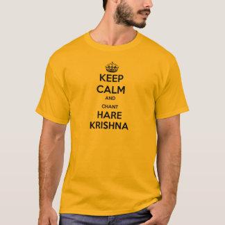 T-shirt Maintenez les lièvres Krishna calmes et de chant