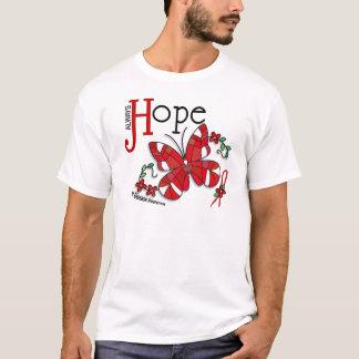 T-shirt Maladie cardiaque de papillon en verre souillé