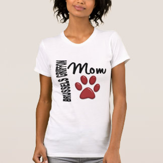 T-shirt Maman 2 de griffon de Bruxelles