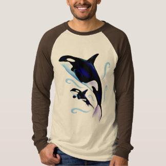 T-shirt Maman d'orque et chemise de bébé