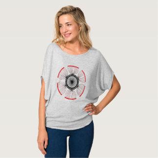 T-shirt Mandala rouge de clou de girofle