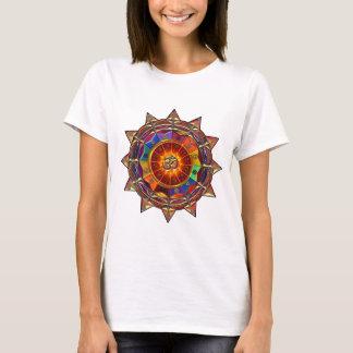 T-shirt Mandala symbolique de Sun d'or
