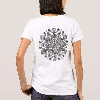 T-shirt Mandala Tiga Abu Abu