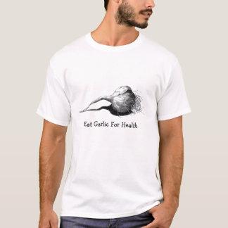 T-shirt Mangez de l'ail pour la santé : Dessin au crayon