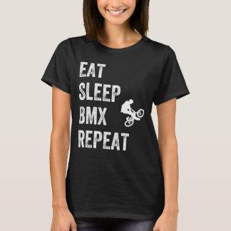 T-shirt Mangez la répétition de bmx de sommeil