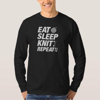 T-shirt Mangez la répétition de Knit de sommeil