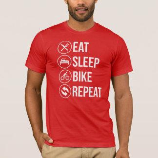 T-shirt Mangez la répétition de vélo de sommeil