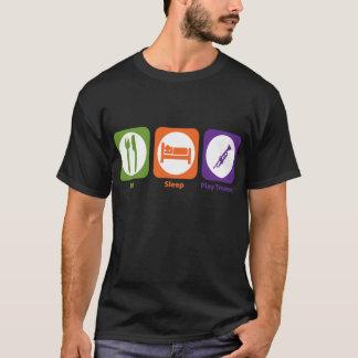 T-shirt Mangez la trompette de jeu de sommeil
