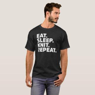 T-shirt Mangez le cadeau de métier de crochet de tricot de