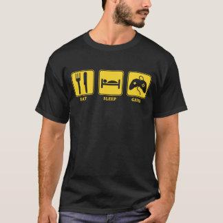 T-shirt Mangez le jeu de sommeil