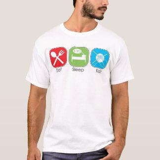 T-shirt Mangez le Knit de sommeil