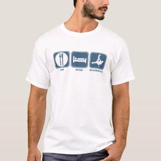 T-shirt mangez le smurf de sommeil